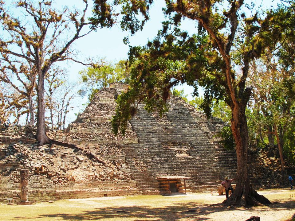 Maya pyramid of Copan, Honduras