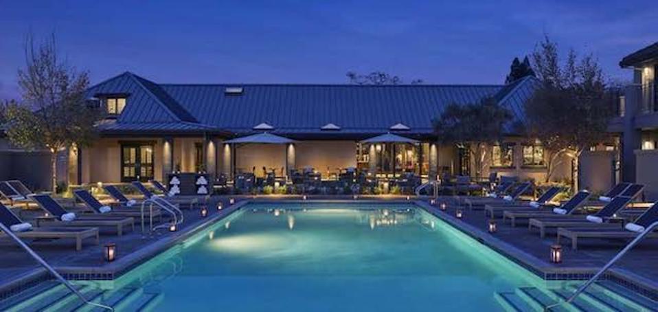 Outdoor pool at Hotel Villagio