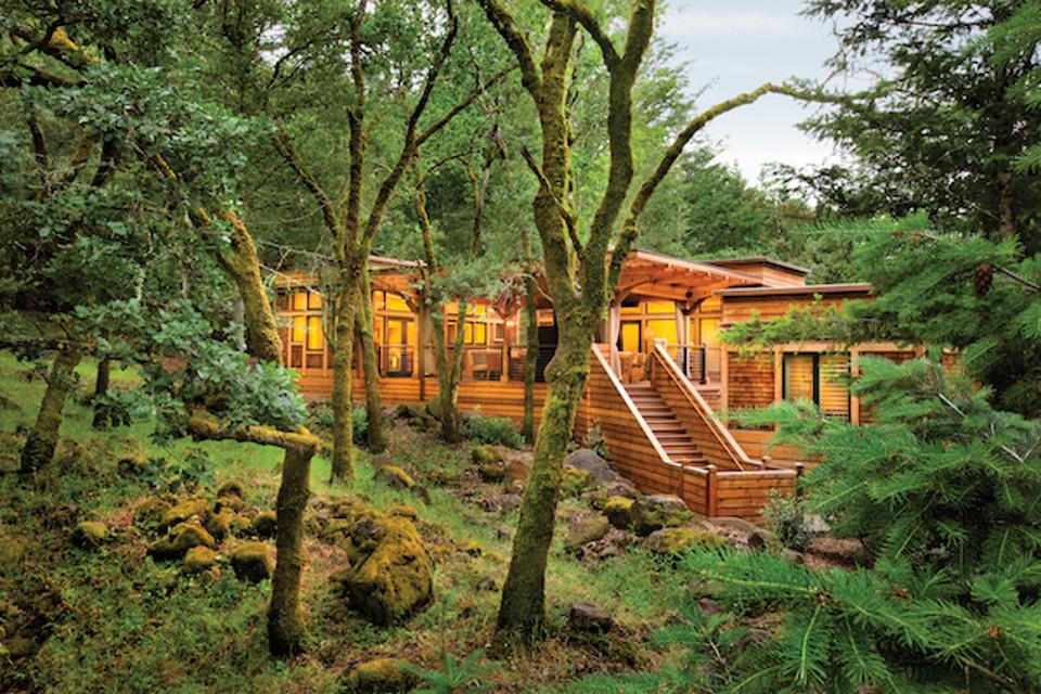 A luxury lodge at Calistoga Ranch