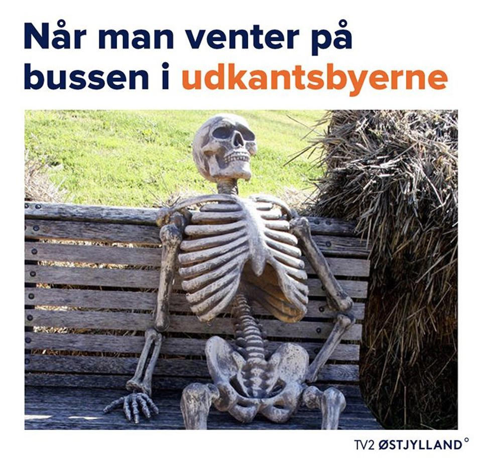 A meme from TV2 Østjylland shared on Instagram