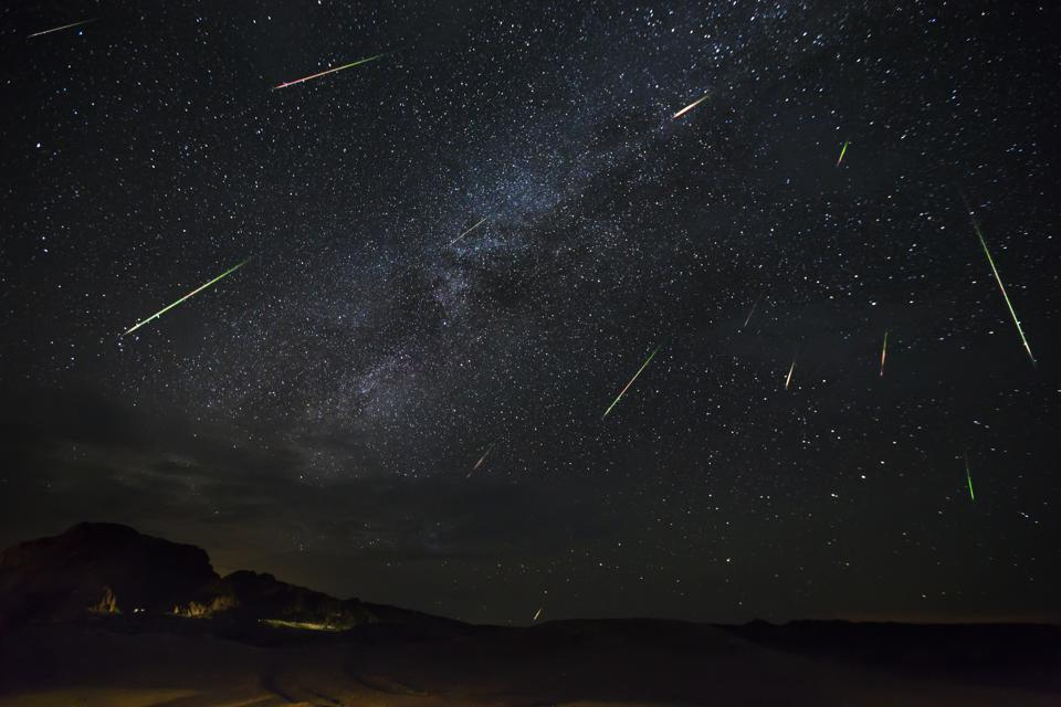 Perseid Meteor Show Captured In Big Bend National Park
