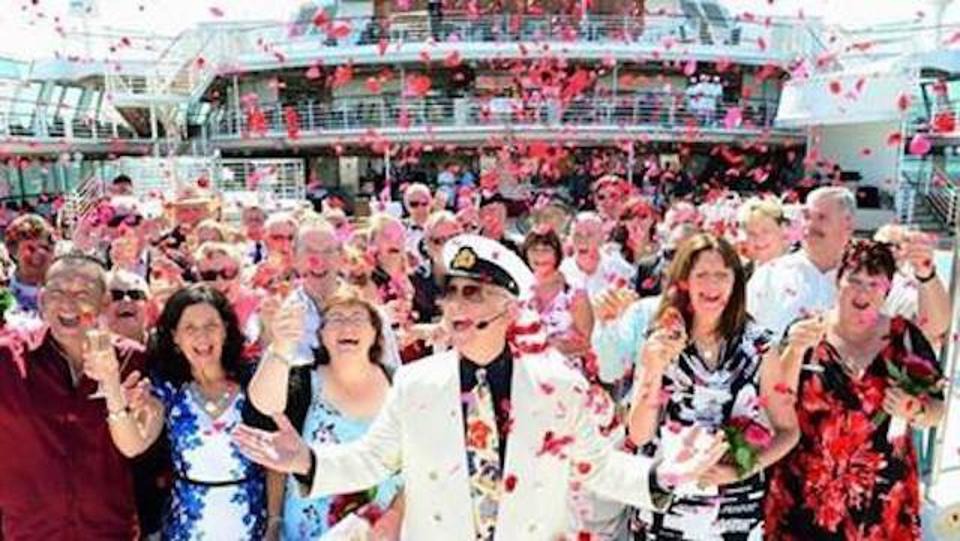 Captain Stubing, officiant of the Vow Renewal event on Regal Princess