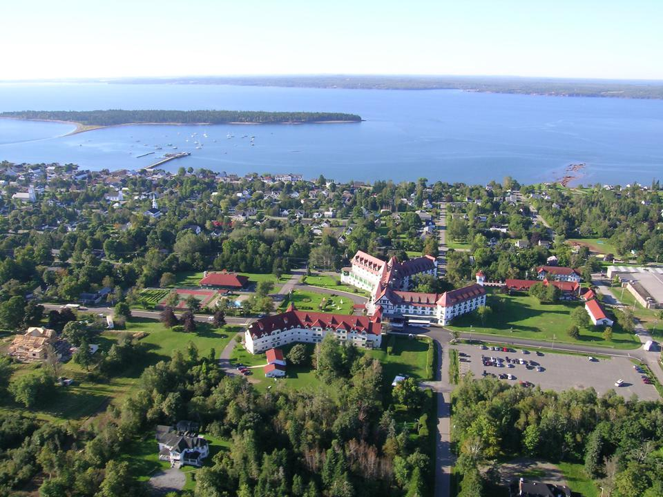 Aerial view of St. Andrews-by-the-Sea