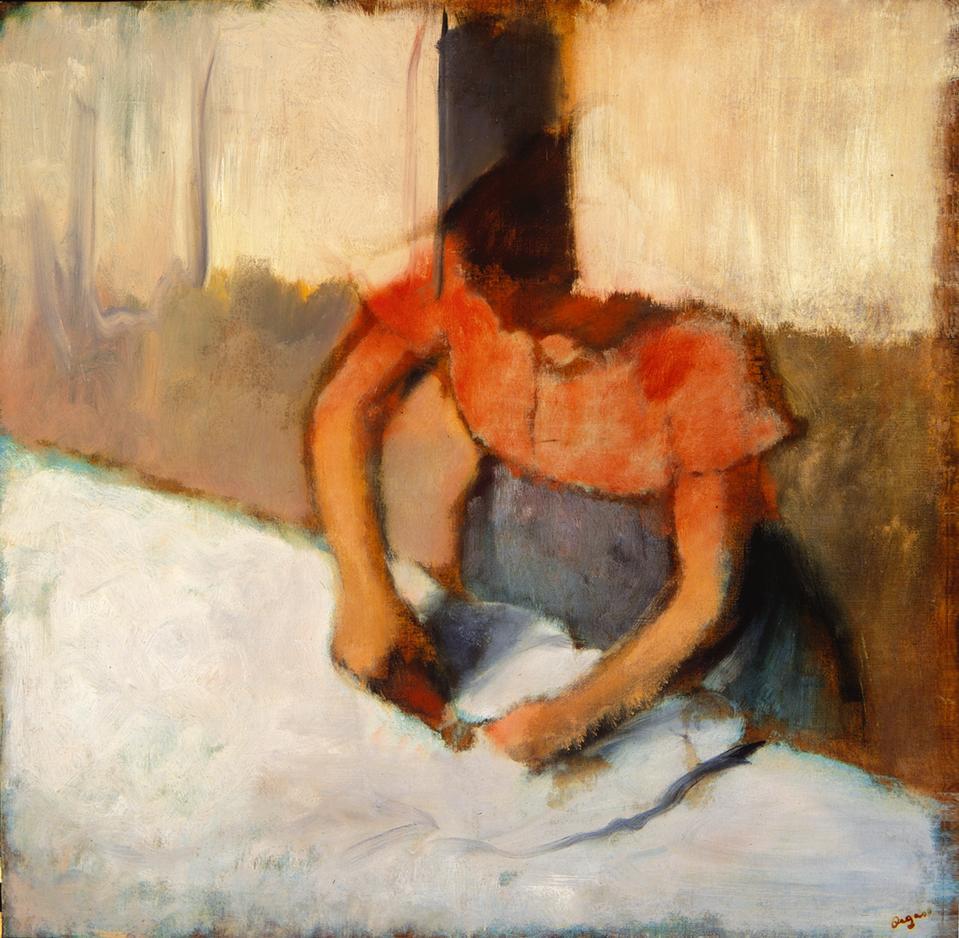 Edgar Degas (French, 1934-1917), The Laundress Ironing (La Blanchisseuse Repassant), c. 1882-1886, oil on canvas.