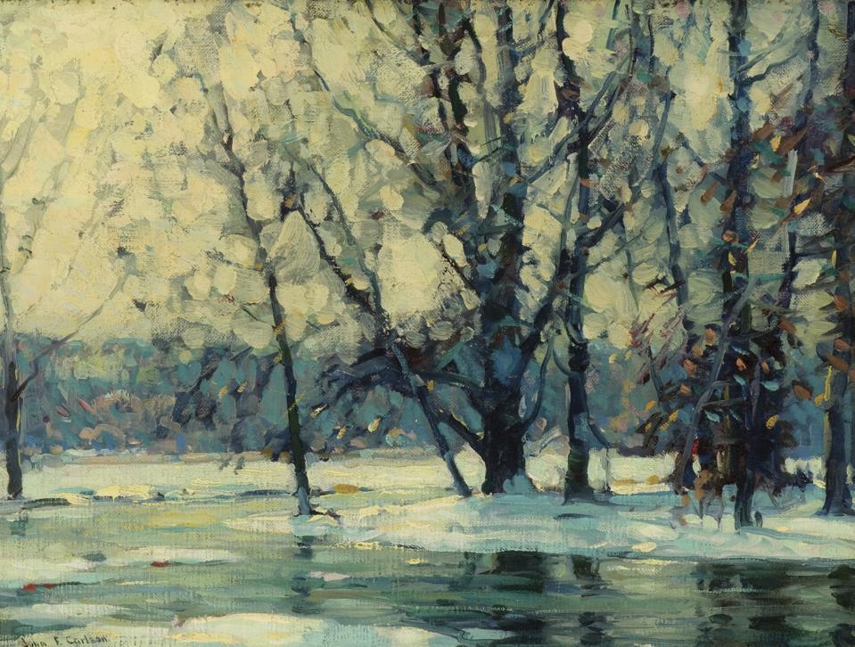 John Fabian Carlson (American (born in Denmark) 1875-1947), Snowy Waters, c. 1920-1927, oil on canvas.