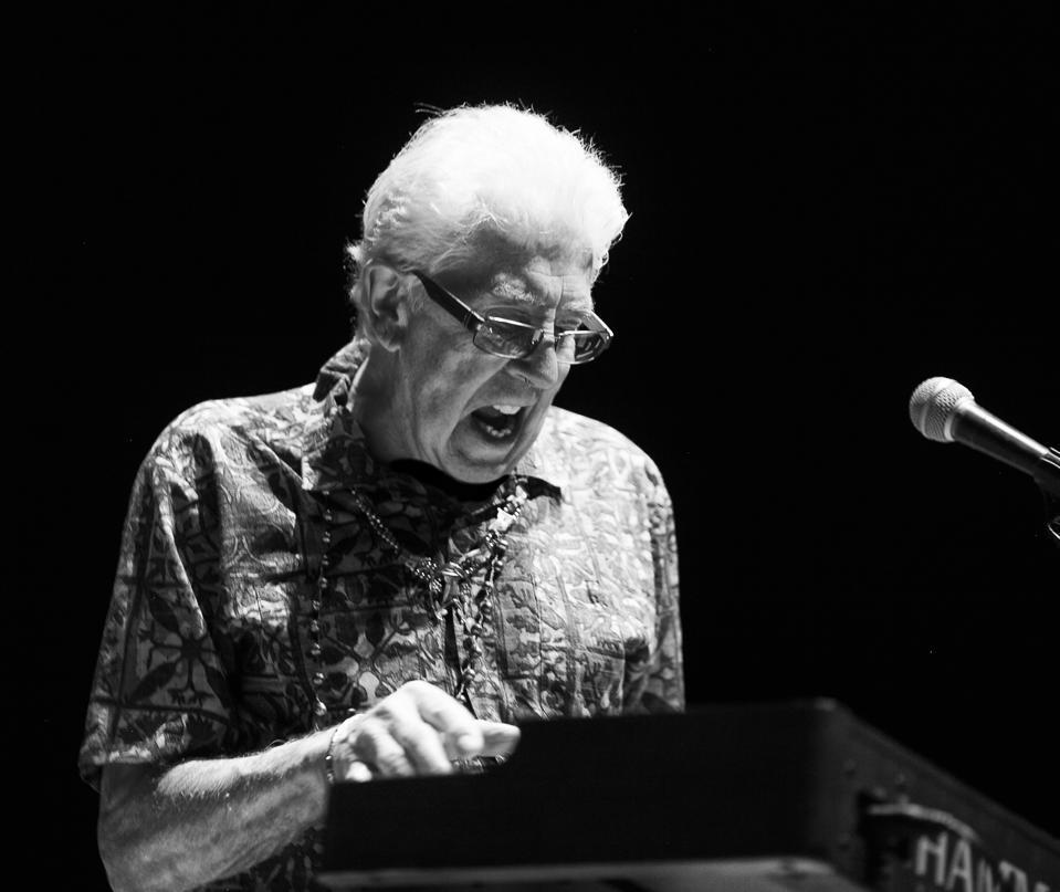 John Mayall on keyboards