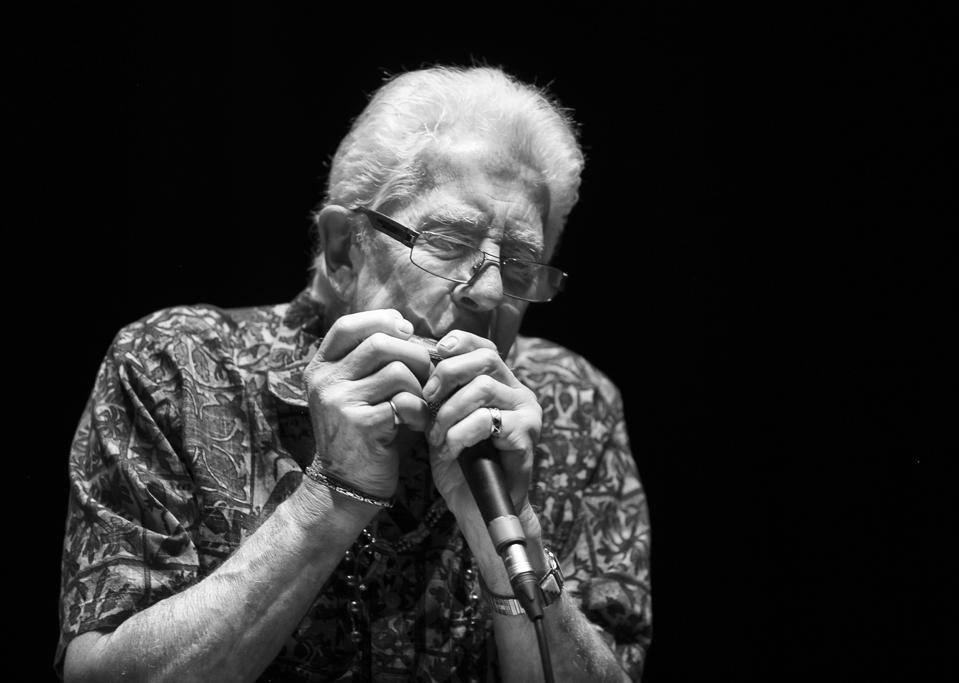 John Mayall on harmonica