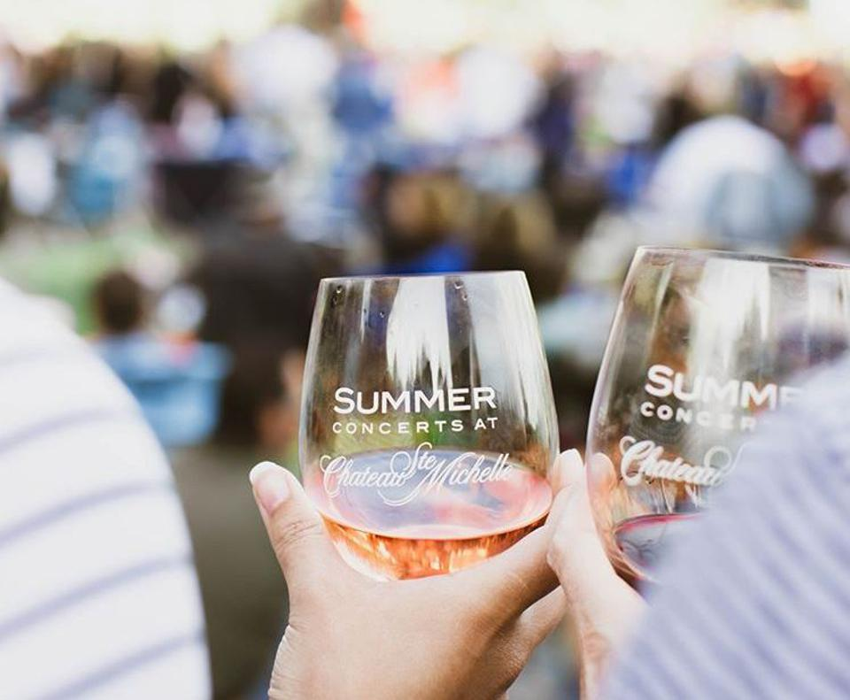 Toast to summer concerts at the Chateau Ste Michelle