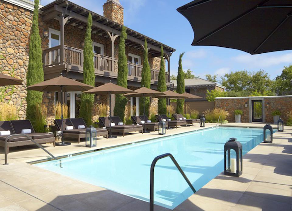 The pool at Hotel Yountville