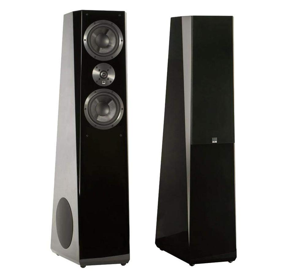 The SVS Tower Flagship speakers bring a ton of punch with side-mounted 8-inch subs.