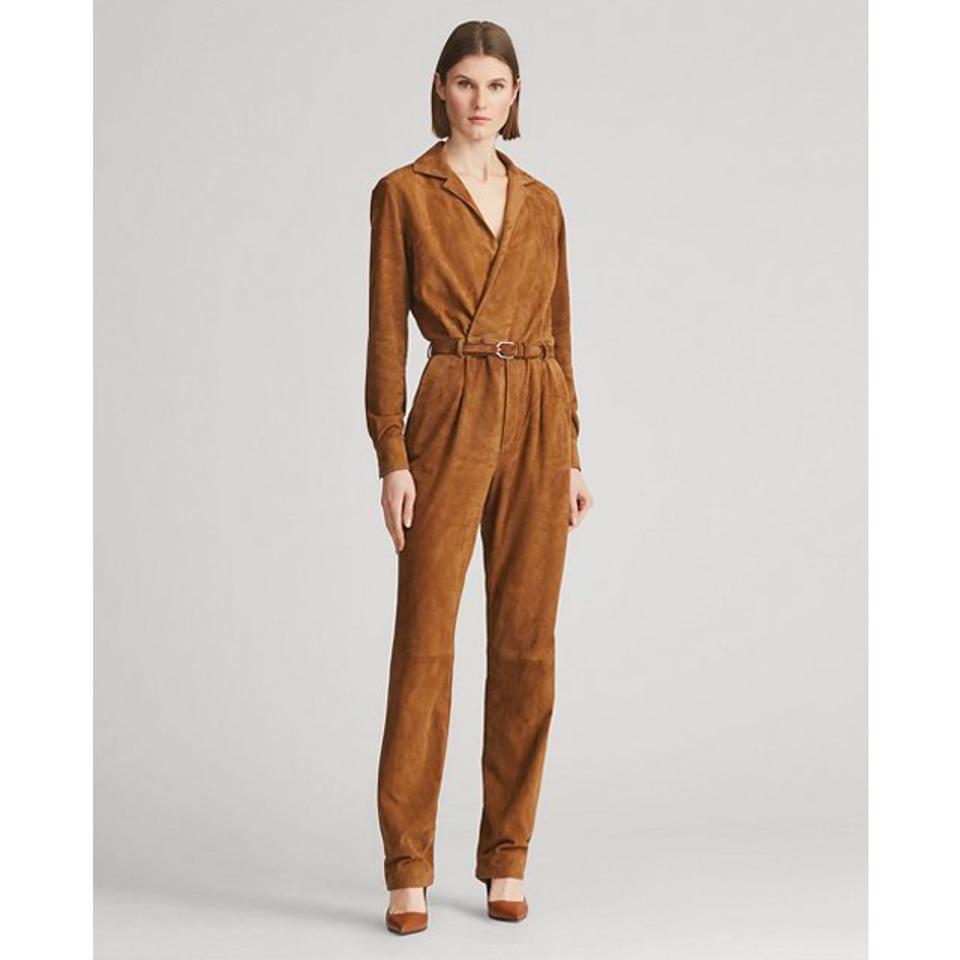 Ralph Lauren Collection Judson Lamb-Suede Jumpsuit