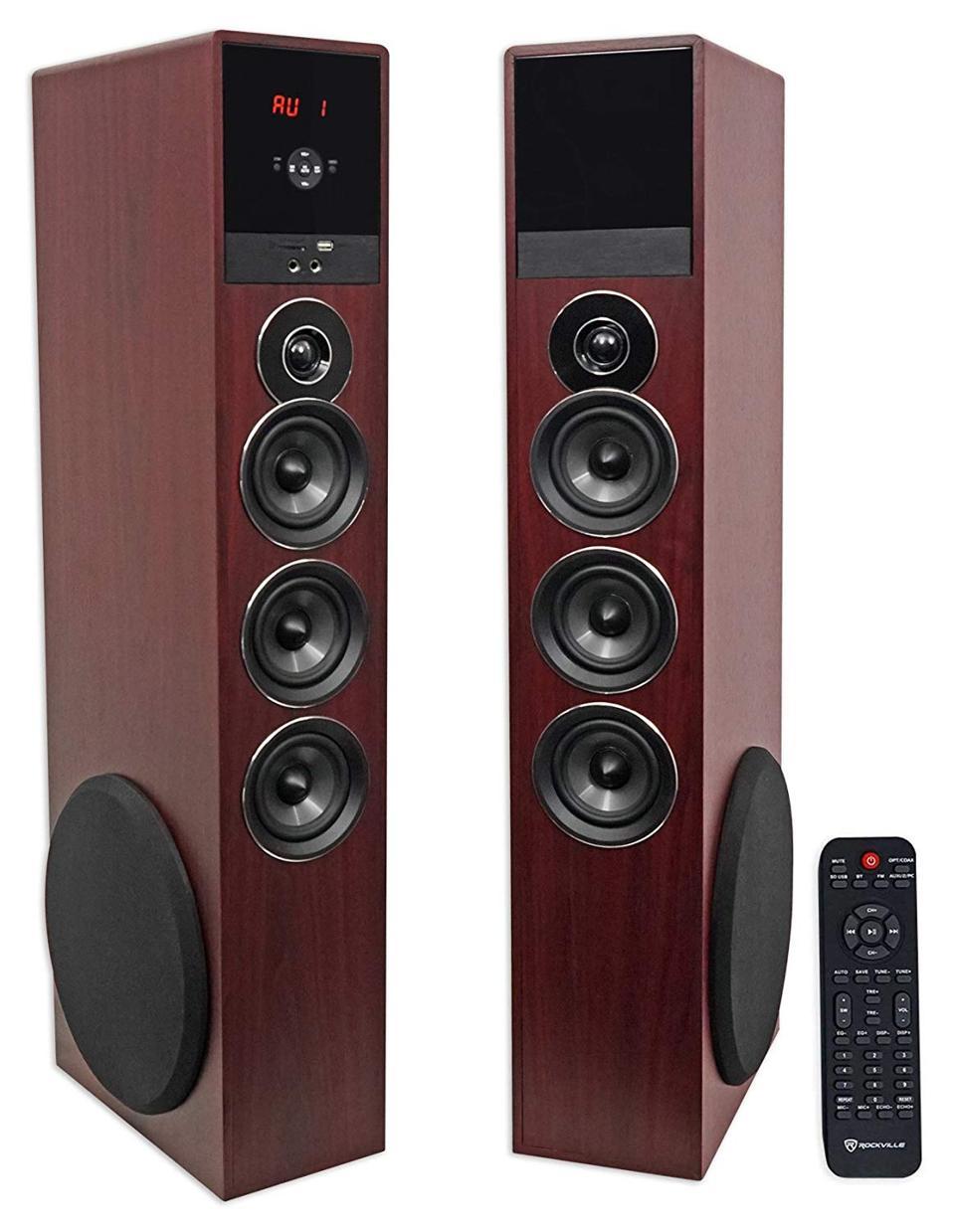 Rockville TM150C wireless tower speakers