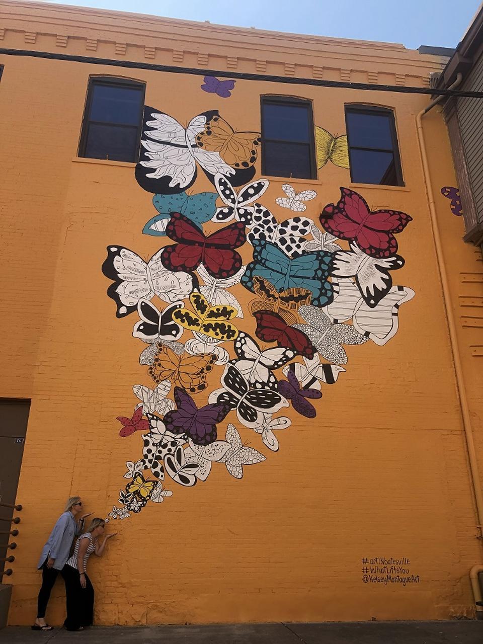 Butterflies mural.