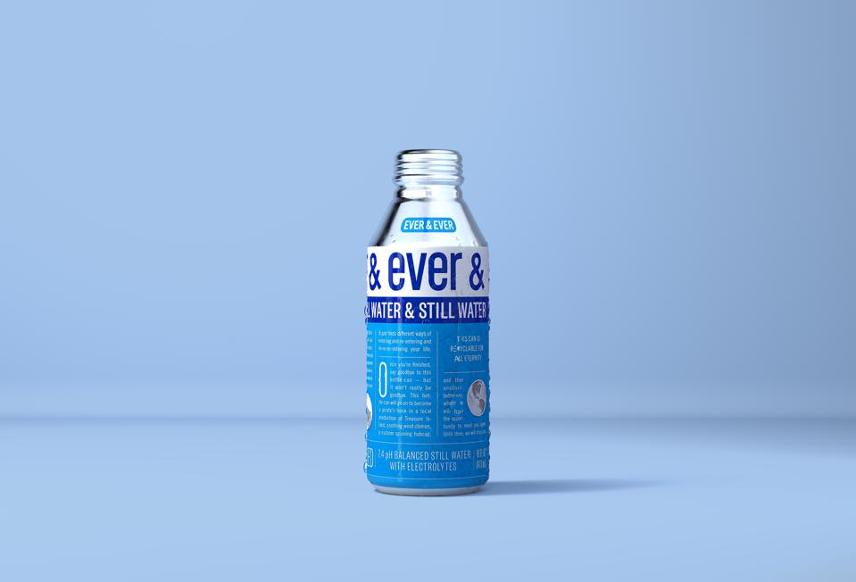 bottle of Ever & Ever against a blue background