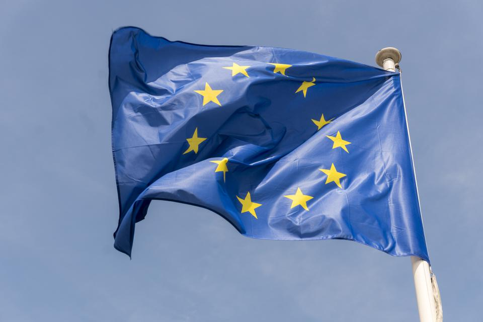 European Union flag at Berlaymont building