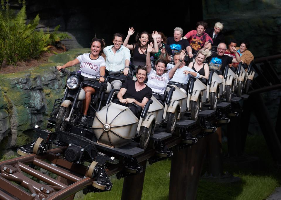 The new Harry Potter ride at Universal Orlando has cast a spell on guests including actors from the movie series