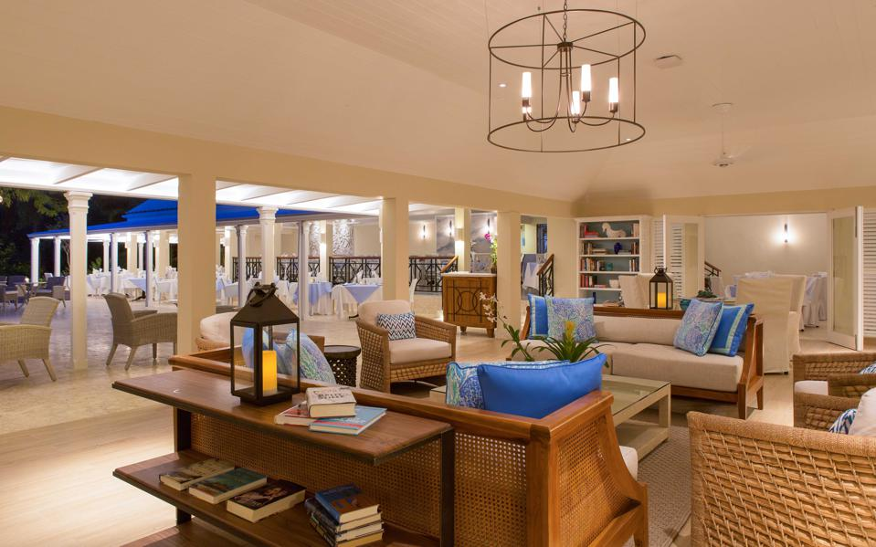 The new library area at Curtain Bluff