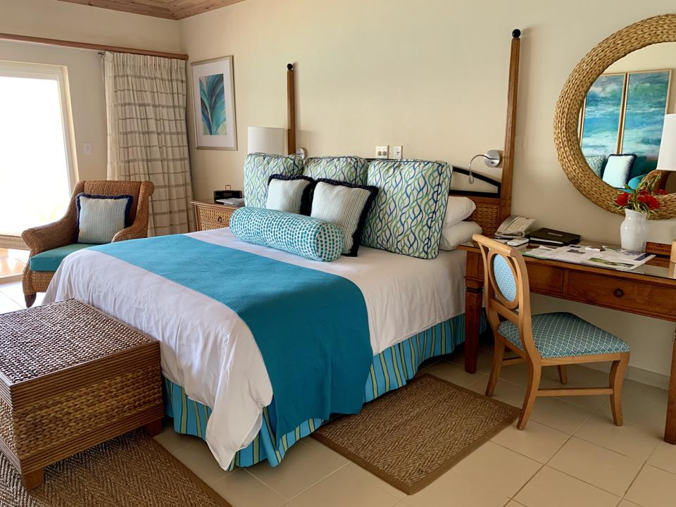Each of Curtain Bluff's spacious rooms offer expansive ocean views.