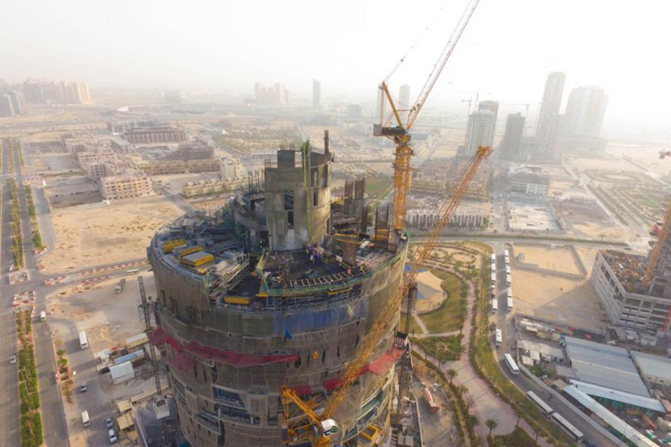 Construction of FIVE JUMEIRAH VILLAGE DUBAI