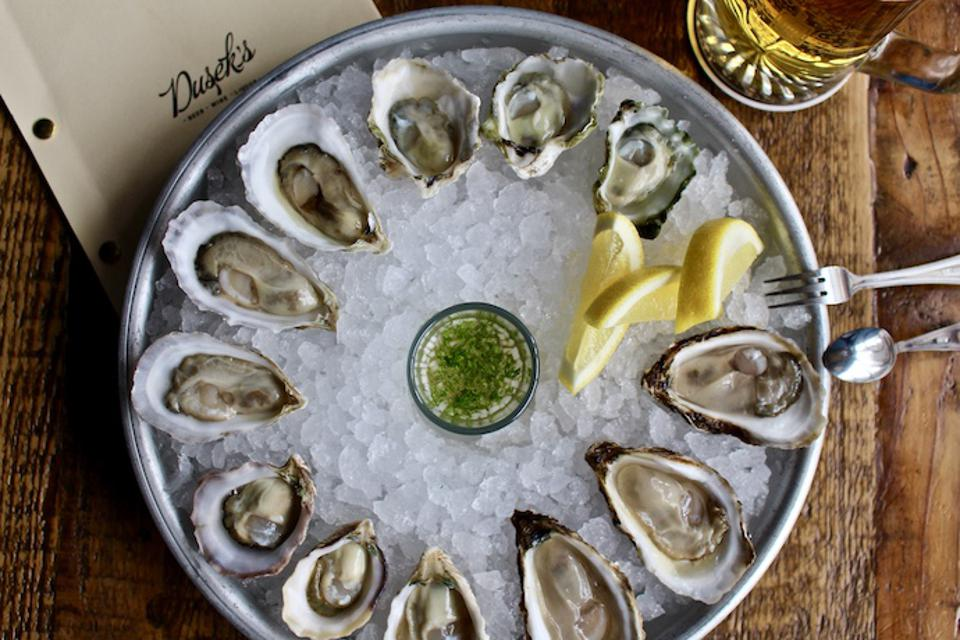 Oysters at Dusek's, Chicago.