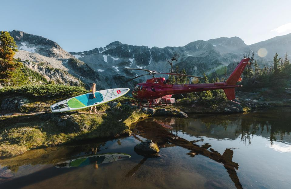 Heli-paddler and helicopter