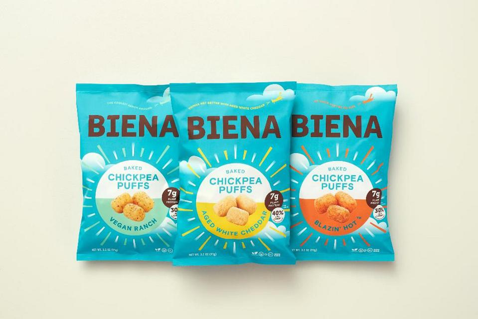 Biena Snacks recently developed a line of puff products.