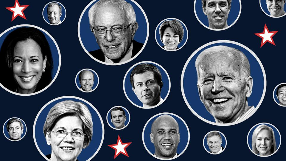 "Introducing ""2020 MONEY:"" Forbes' Definitive Wealth Ranking  For The 2020 Presidential Candidates"