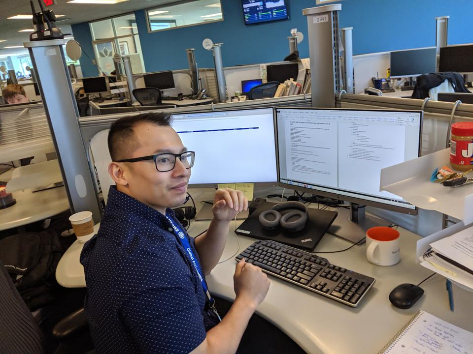 Doug Chau, RPA developer and designated back-up bot controller. He's the bot handler for Allianz.  His bots deliver better customer service, according to Allianz.