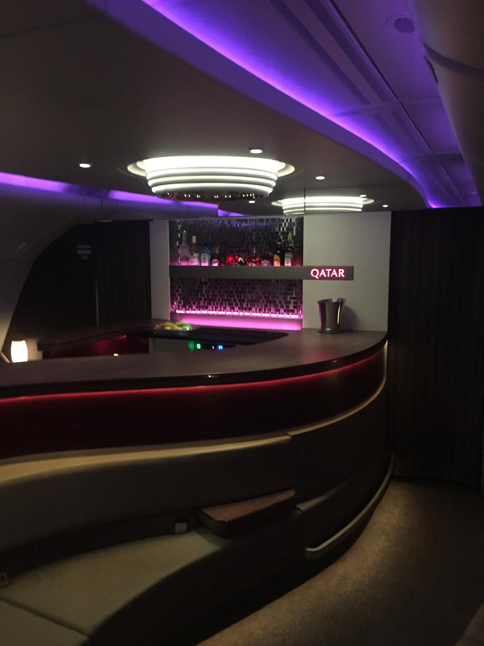 Onboard aircraft lounge