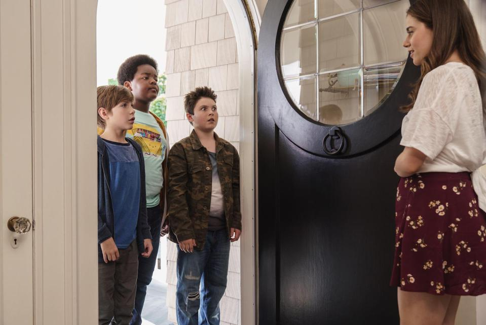 Jacob Tremblay, Keith L. Williams, Brady Noon and Molly Gordon star in the Universal comedy 'Good Boys.'