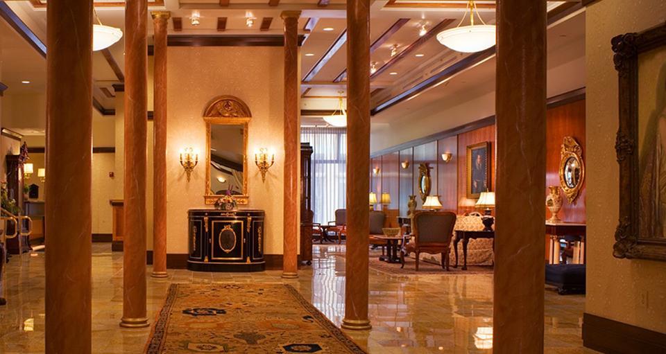 The lobby of the Hotel Providence