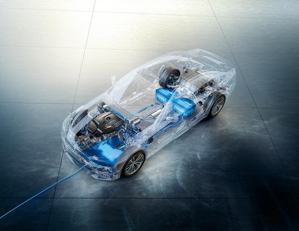 BMW will pilot wireless charging of the BMW 530e plug-in hybrid sedan in California.