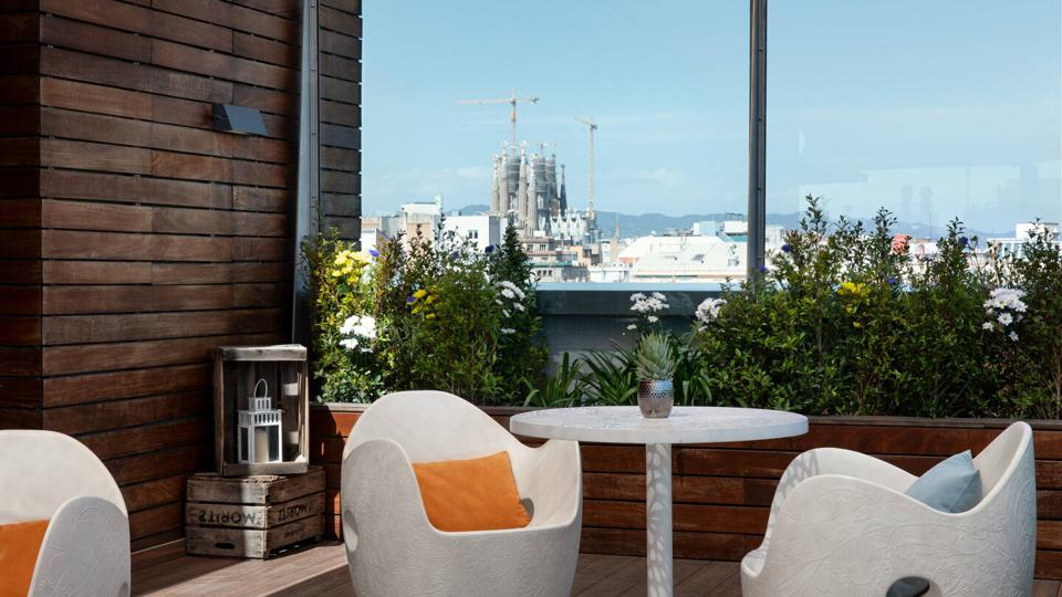 The view from the Renaissance Barcelona rooftop bar.