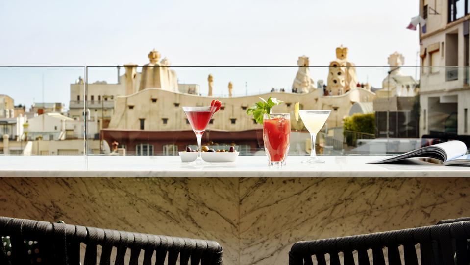 A snapshot of the view from the Sir Victor Hotel Barcelona.