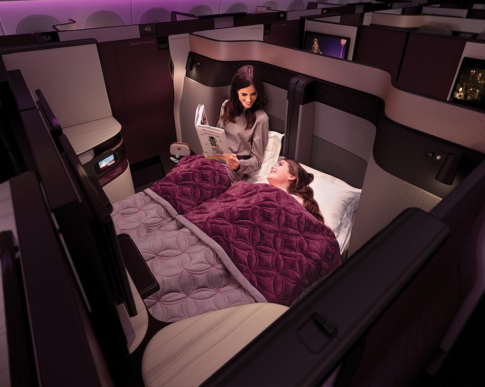 Qatar Airways. Qsuite. Best business class.