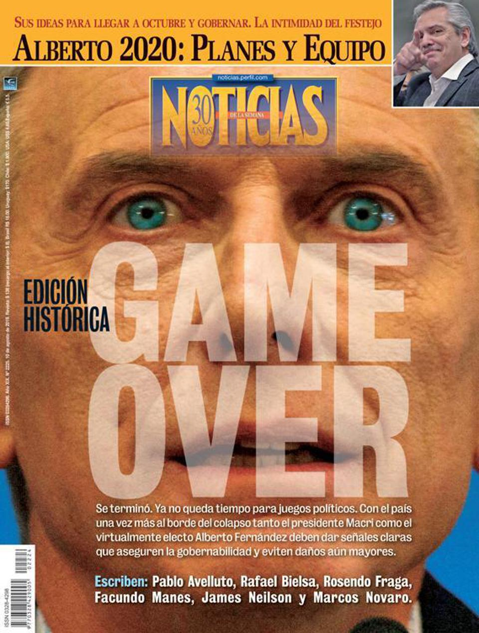 La Nacion Macri Game Over