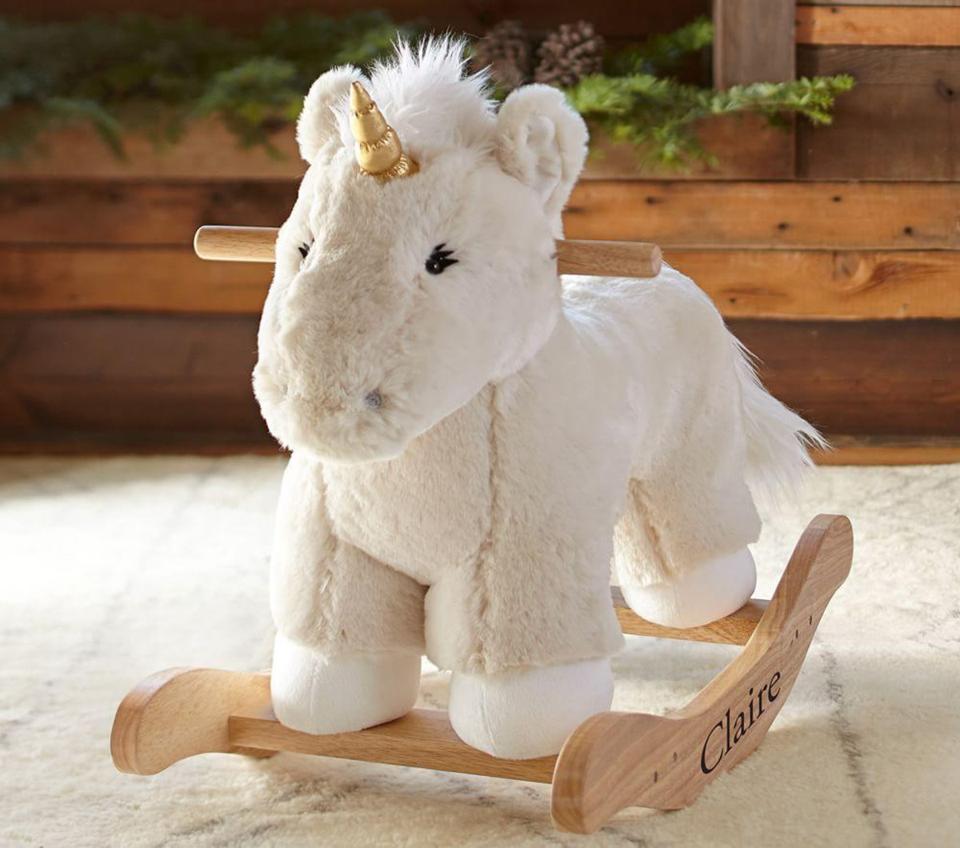 Pottery Barn unicorn plush rocker