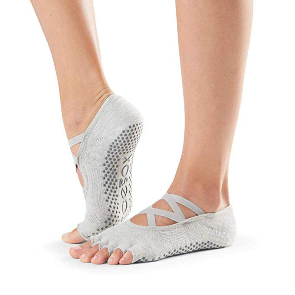 TOESOX Elle Half Toe Grip Sock