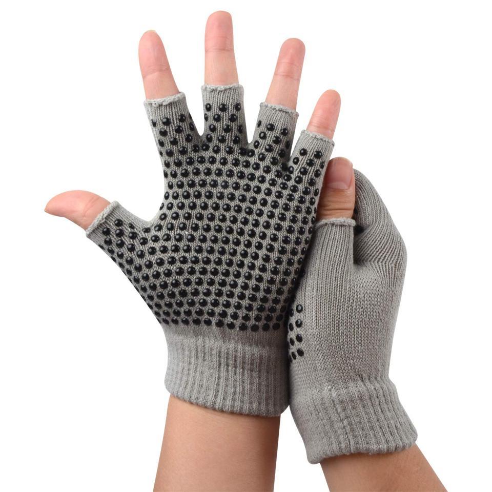 SUNLAND Non Slip Grip Fingerless Gloves