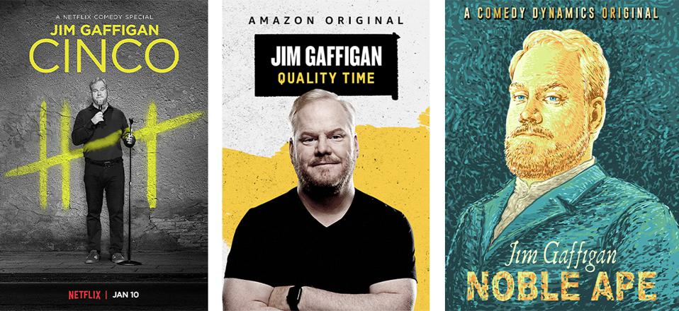 Jim Gaffigan stand up comedy specials for Netflix and Amazon Original