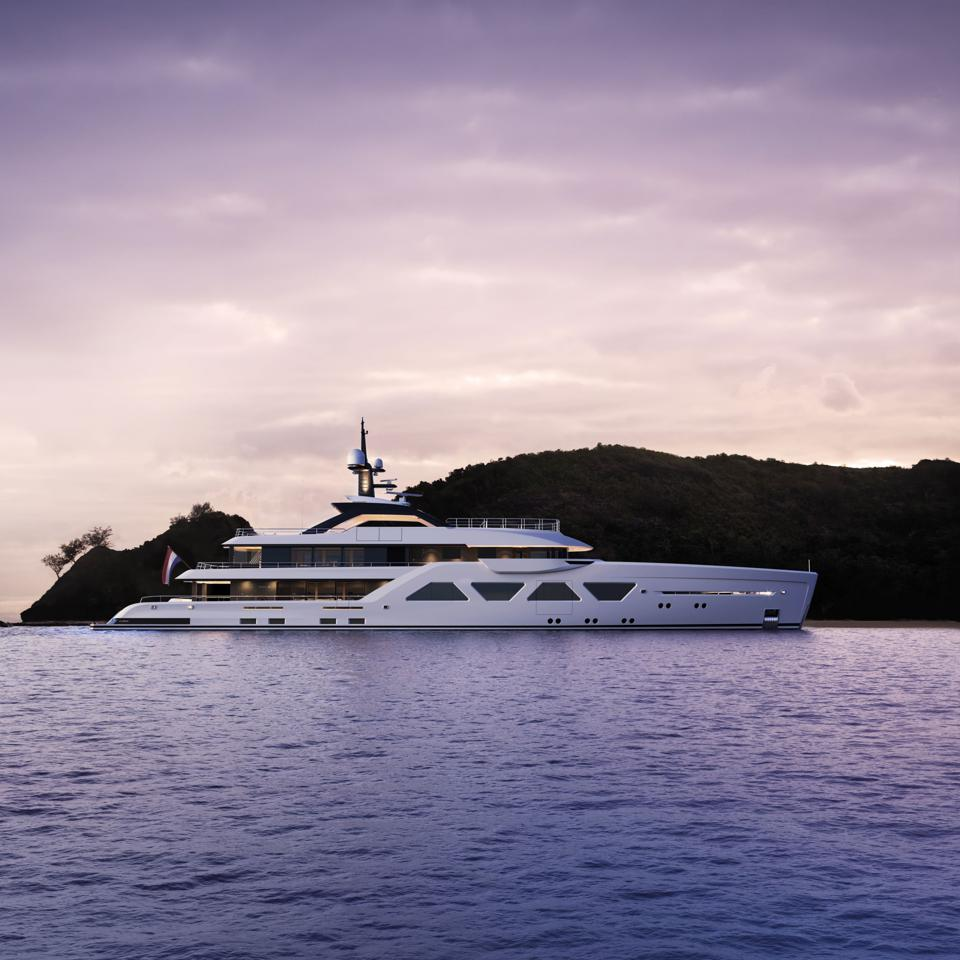 The 200-foot long AMELS 60 is a 21st century superyacht.
