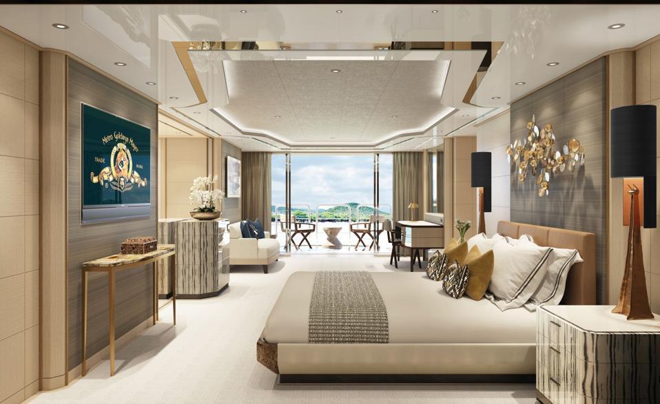 AMELS 60 Master Stateroom designed by Indigo Studio