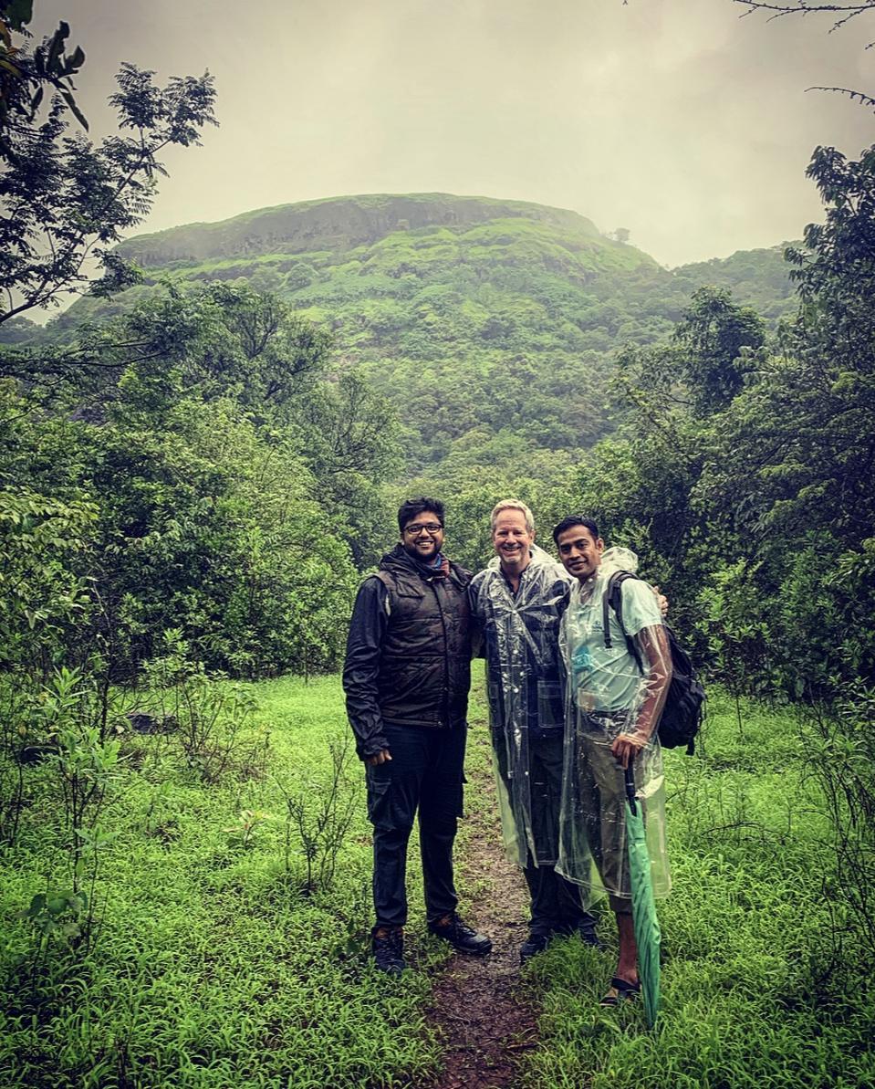 Exploring the dramatic lush mountains with Prateek and naturalist Ravi Raj