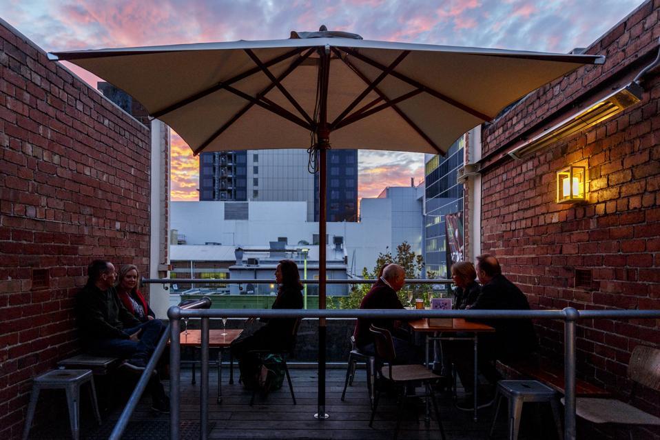The terrace at Mechanics' Institute Bar in Perth, Western Australia