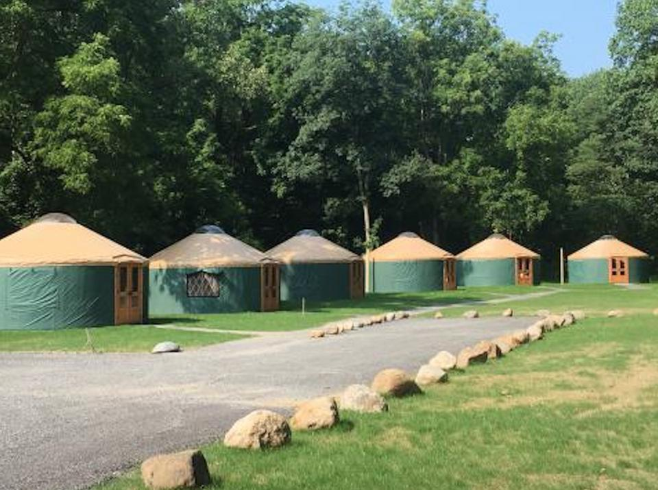 Yurts at Plum Point Lodge
