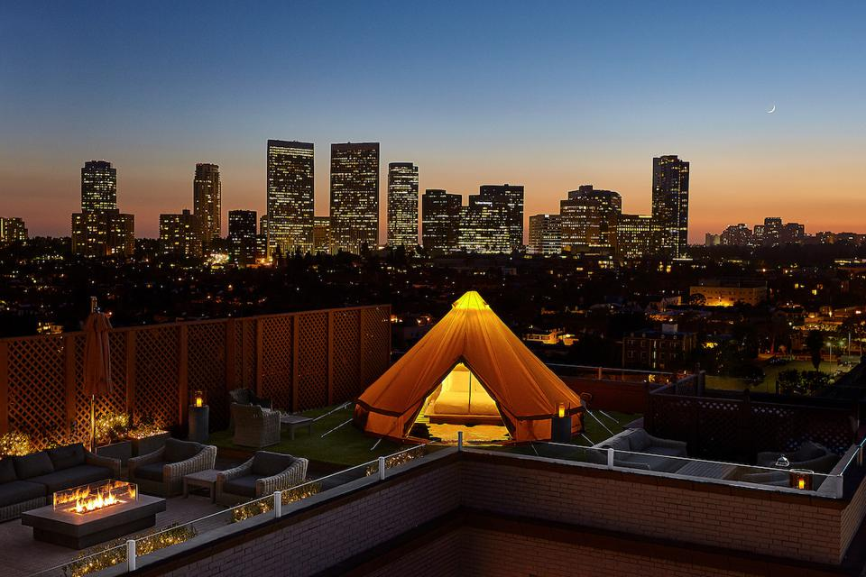 Urban glamping at the Beverly Wilshire Hotel