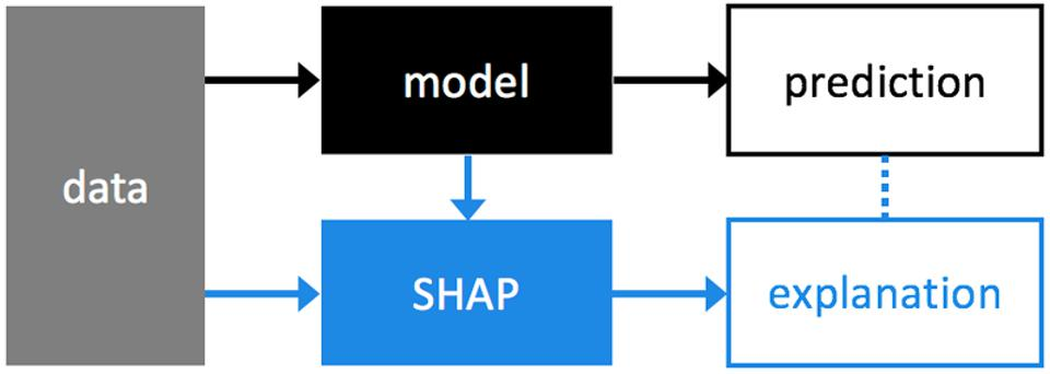 Flow diagram for machine learning model interpretation tool