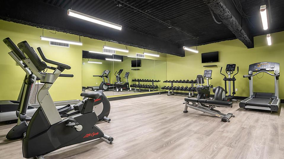 The fitness room at the Marquee Resort.