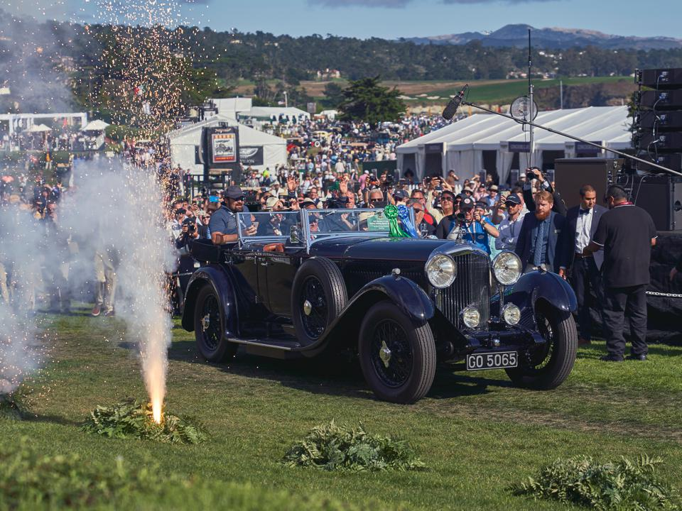 Bentley 1931 8 Litre Gurney Nutting Sports Tourer, owned by Sir Michael Kadoorie, won 'Best of Show' at the 2019 Pebble Beach Concours d'Elegance.