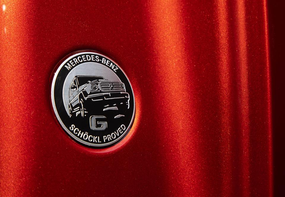 G-Class inside door panel stamp of off-road approval